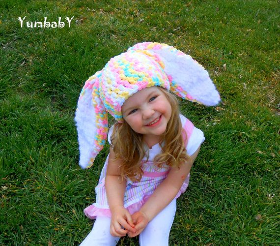 Easter Hats Bunny Hat Rabbit Hats Colorful Photo Props by YumbabY, $21.95