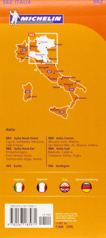 Cartina Stradale Italia nord