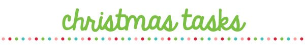 Organised Christmas 2013 – Day 2 » The Organised Housewife