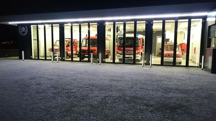 Firemen station lighting project by by Norbert Hofer |  #ledlab #lightingdesign #fireman #led #lightingdesigners #lighting #CreativeGallery #milan | www.ledlab.it