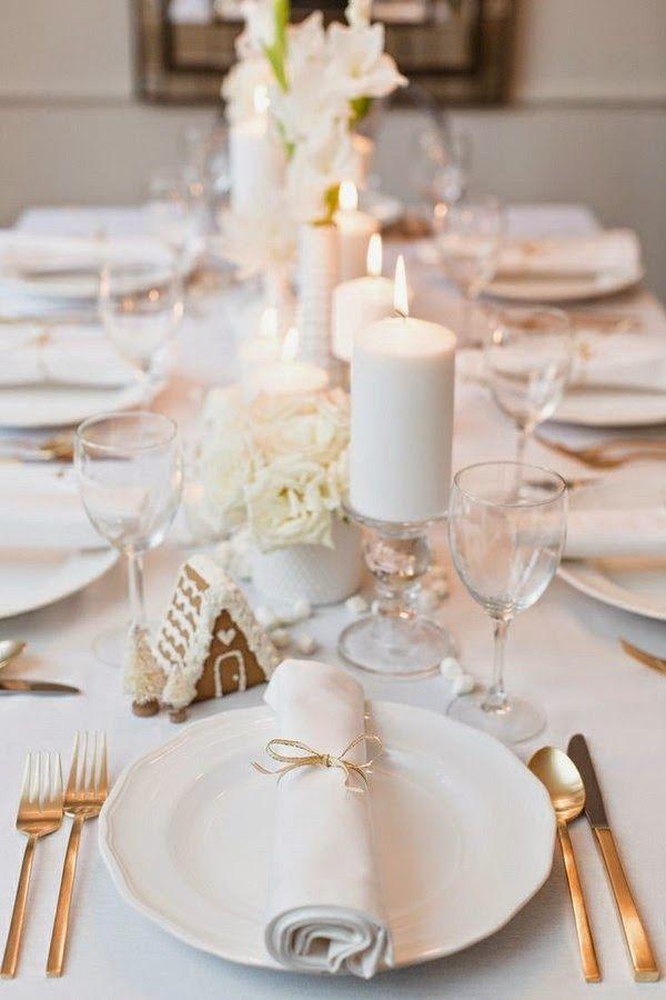 Bianco e oro per un Natale elegante