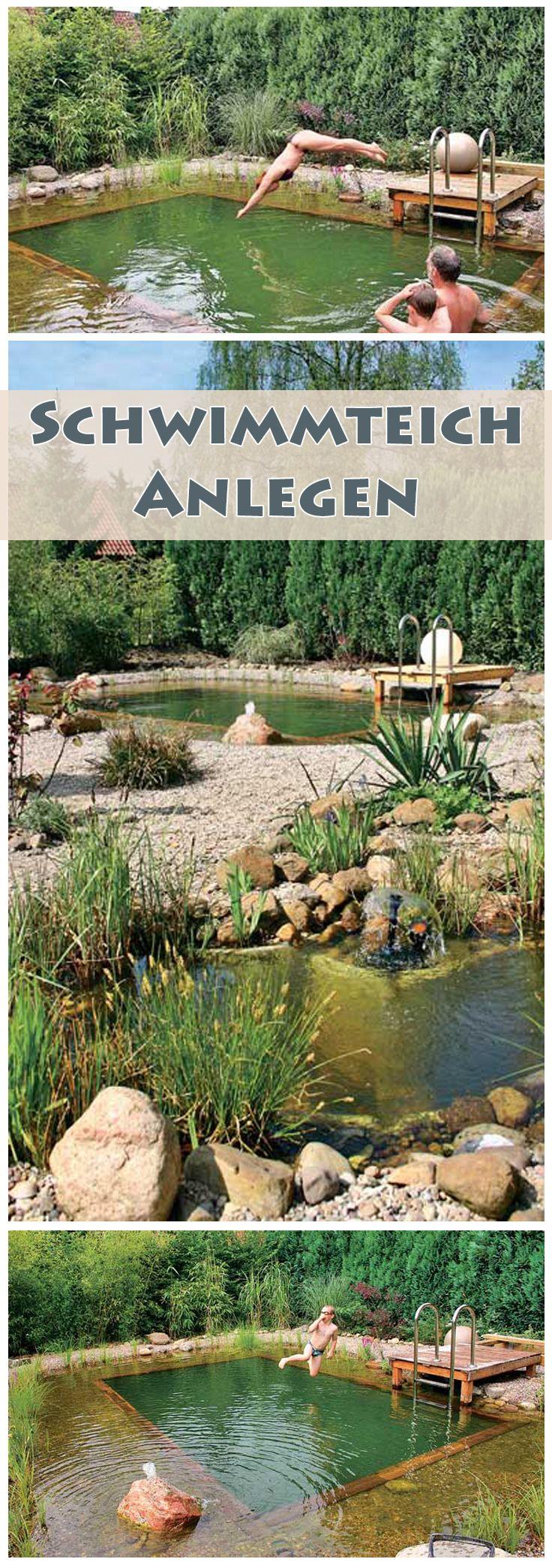 wieso einen swimmingpool bauen wenn man auch einen sch nen nat rlichen schwimmteich haben kann. Black Bedroom Furniture Sets. Home Design Ideas