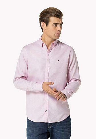 Camisa De Ajuste Entallado De Algodón