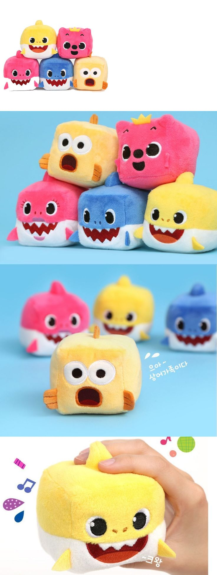 Plush Baby Toys 131084: Pinkfong Cubecube Sound Dolls Toys Shark Family 5 Songs Plush Dolls 6X6x6cm 3Y+ -> BUY IT NOW ONLY: $69.9 on eBay!