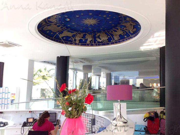 Έργο_8ε: Ζωδιακός κύκλος_ στο lobby του Rethymno Residence hotel