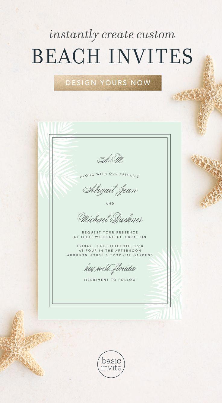 Beach Wedding Invitations In 2020 Wedding Invitation Trends Beach Wedding Invitations Unique Beach Wedding Invitations