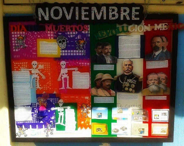 17 mejores ideas sobre periodico mural noviembre en for Componentes de un periodico mural