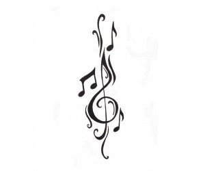 Clef and notes tattoo idea