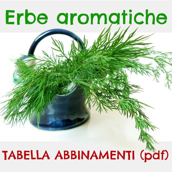 Erbe aromatiche: tabella degli abbinamenti (pdf)