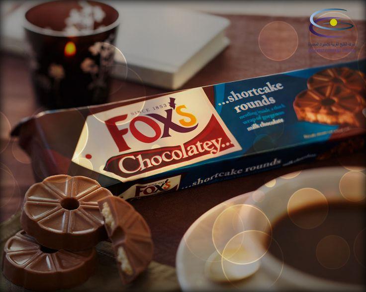 Fox's Chocolatey shortcake rounds… Try it with coffee …  شوكولاتة فوكس الدائرية… جربها مع القهوة