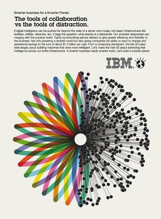 Ogilvy & Mather for IBM. Credits: Creative director / art director: Chris Van Ossterhout; creative director / writer: Rob Jamieson; art producer: Leslie D'Acri / Elisabeth Lucas. Image: Helmo.