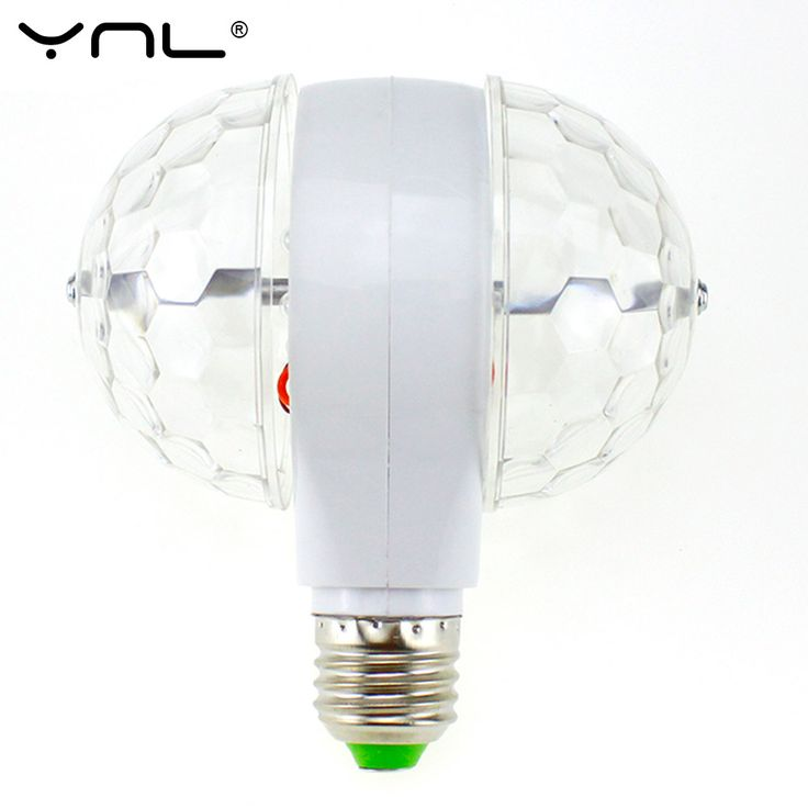 Ynl lampada led lampu e27 6 w 85-265 v colorful auto rotating rgb bola Kristal Tahap Cahaya Sihir Bola DJ party disco efek ganda