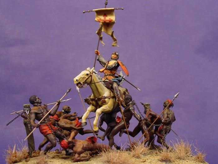 the Navas de Tolosa`s Battle - Diorama made on 2002 with another artist based on a classical painting of spanish medieval history. Sold to a collector.