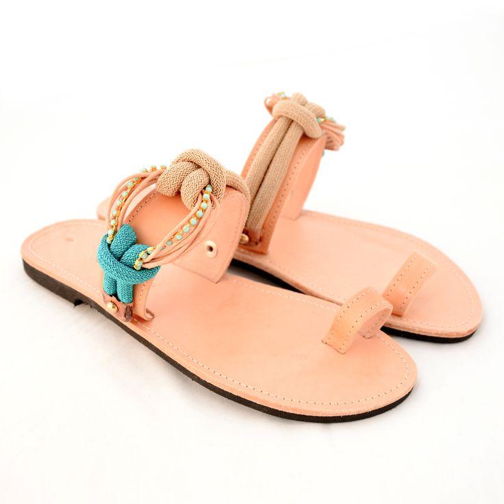Handmade leather sandals @ www.littlestore.gr/en