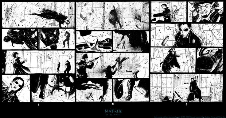 Storyboard for The Matrix