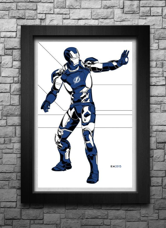 IRON MAN Tampa Bay Lightning inspired limited by IndustrialAge