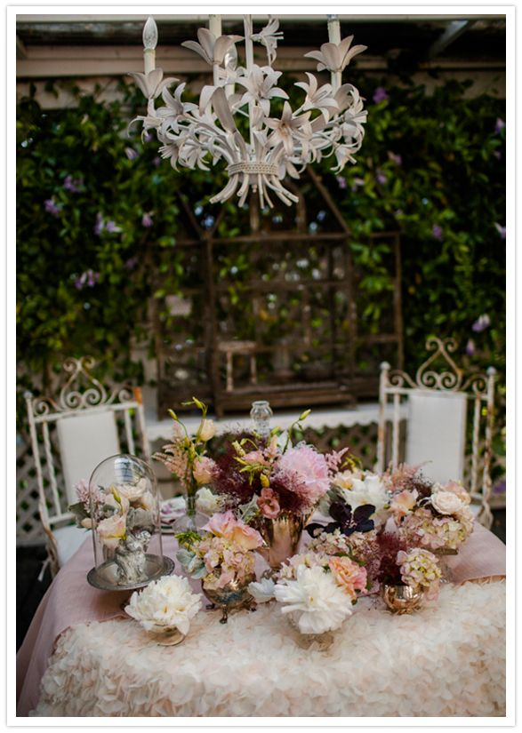 flower-covered tablescape
