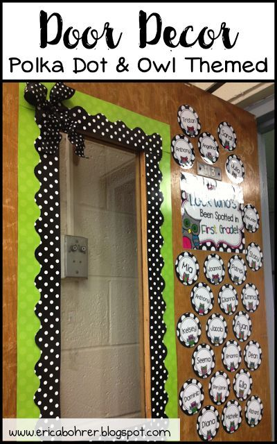 Black and White Polka Dot Classroom Decor Ideas
