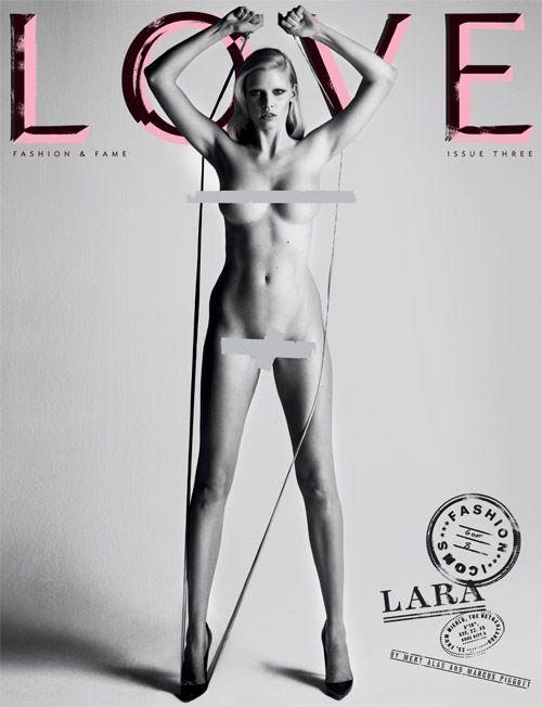"Lara Stone – 25, 5'10"", Netherlands  Measurements: 32F-22-35"