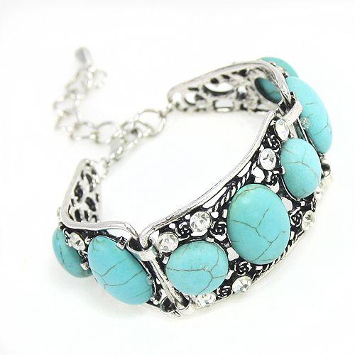 Старинные богемный бирюзовые цепи браслеты для женщин 2016 boho ювелирные изделия браслеты и браслеты чешского украшения браслет синий brtj34 купить на AliExpress