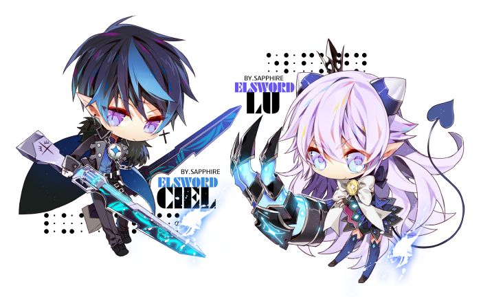 Lu And Ciel In Chibi