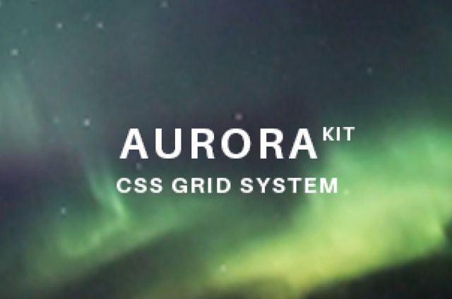 An easy, flexible and full of responsive and mobile first features, made for designers, CSS Grid System.The big idea behind Aurora...