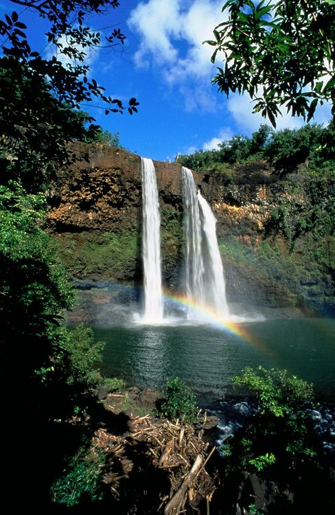 Wailua Falls, Kauai, Hawaii, USA...used to live just up the mountain from this waterfall...Teilor do you remember?