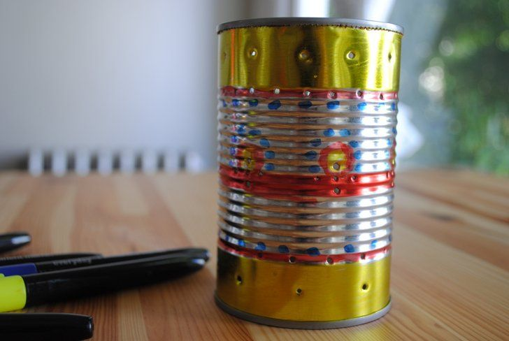 HOW TO: Recycle a Tin Can Into a Gorgeous Outdoor Lantern for Summer Parties…