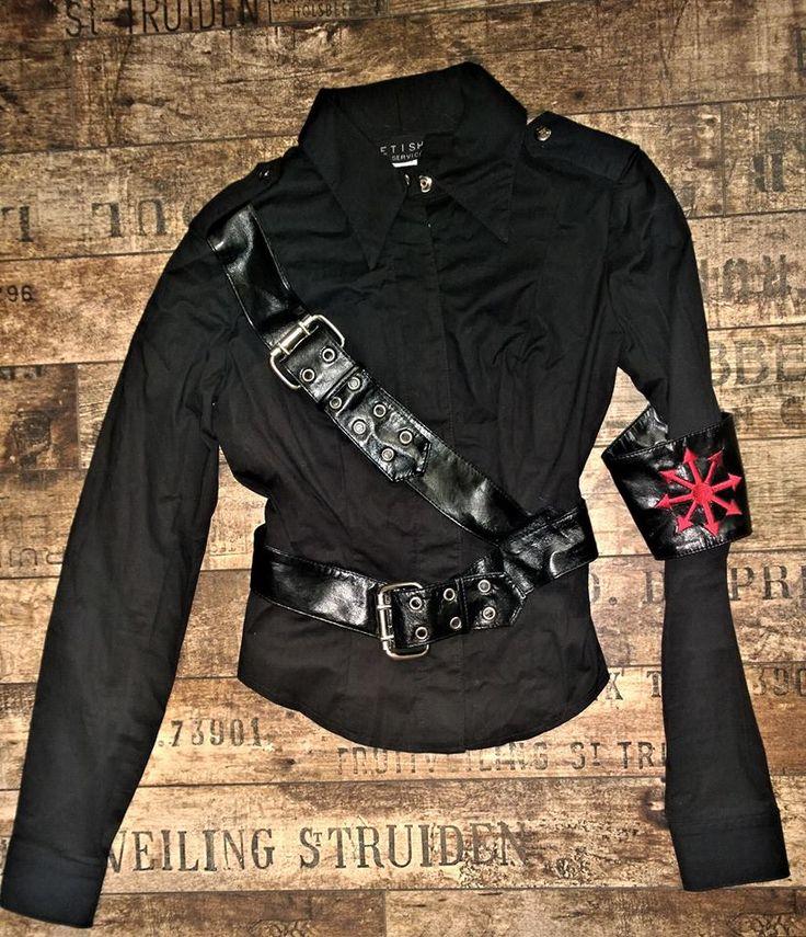"LIP SERVICE Mein Commandante ""Under The Flag"" shirt #38-244"