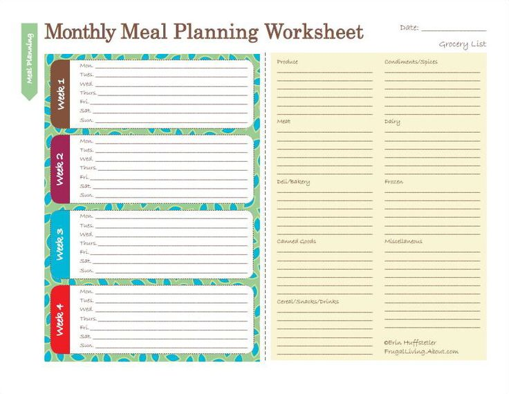 free printable meal planner - Leonescapers