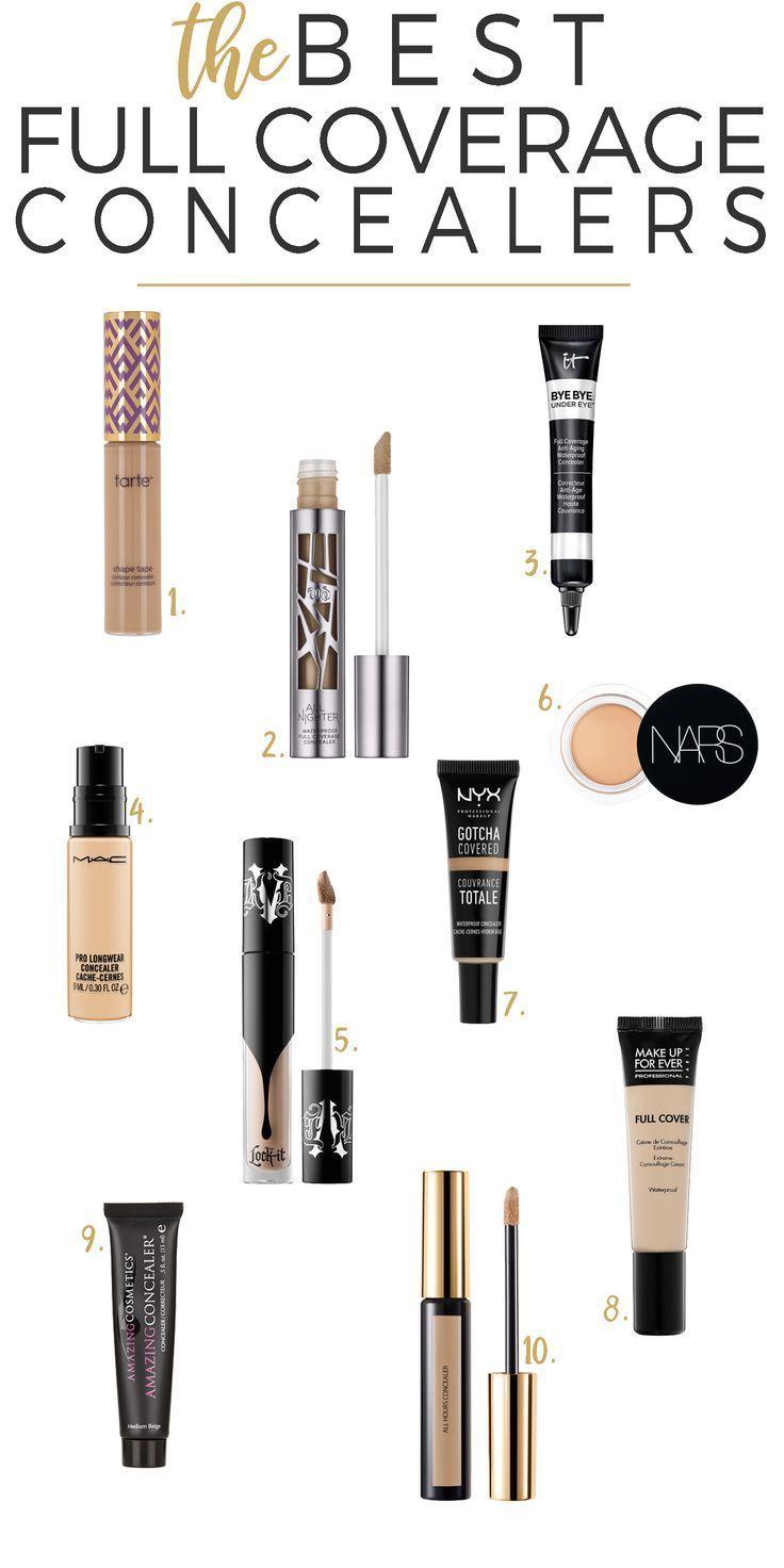 Top 10 Full Coverage Concealers Beautiful Makeup Search Coverage Concealer Best Full Coverage Concealer Full Coverage Concealer