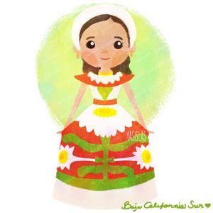 México colores y diseños de sus trajes típicos Baja California