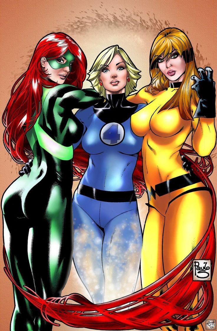 3 Girls from Marvel Colored 2 by eHillustrations.deviantart.com on @DeviantArt