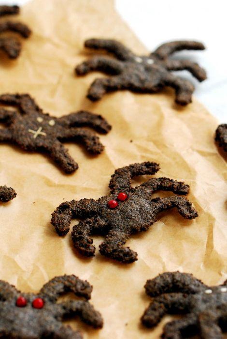 Bezglutenowe wegańskie ciastka pająki / Gluten free & vegan spiders cookies