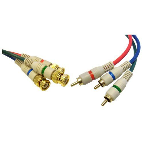 High Quality 3 RCA Male (RGB) to 3 BNC Component Video Cable, 6 ft by Cblwhl. Save 46 Off!. $11.43. This cable is used for displays that require a BNC connection from a PAL / NTSC video source.
