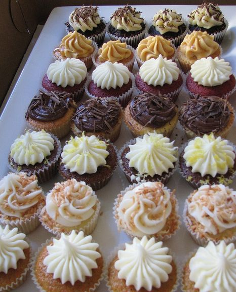 mini cupcake assorted platter idea