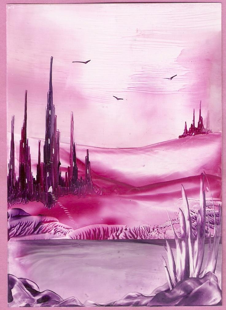 castle valley one of my encaustic art paintings