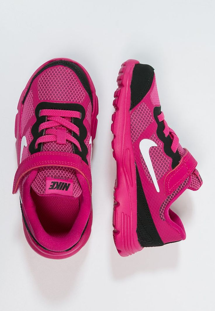 Nike Performance - FUSION RUN 3 - Løpesko med demping - hot pink/white/black/fireberry