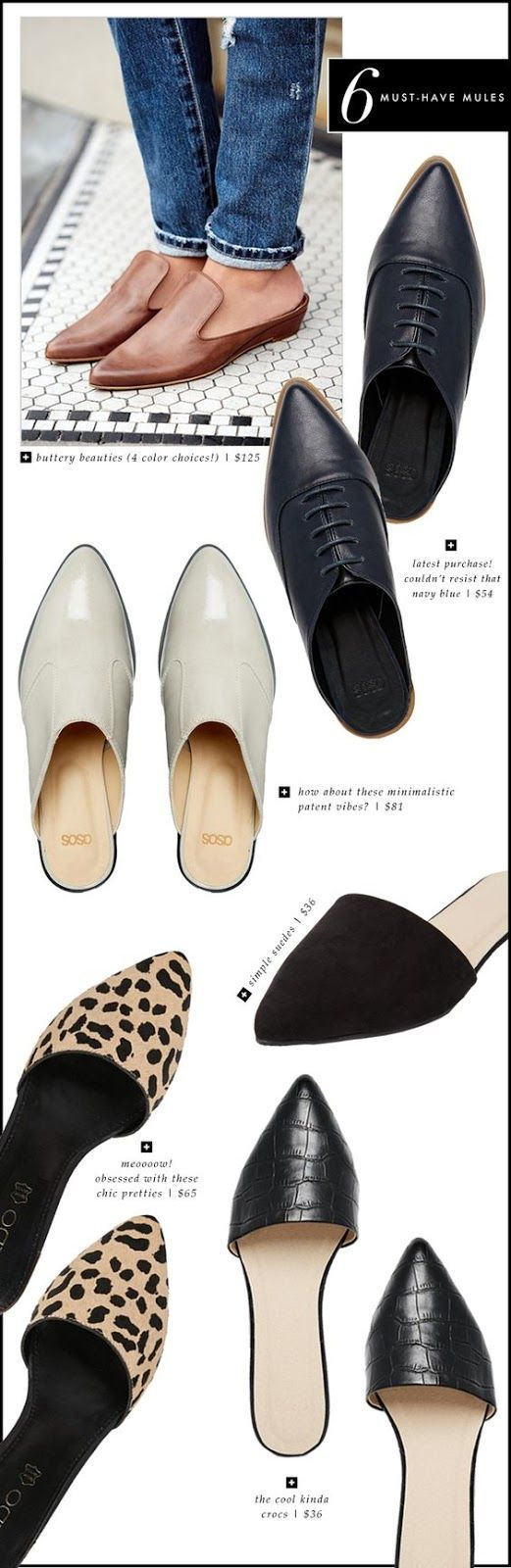 6 Must-have Mule Flats for 2017 - PIN Blogger