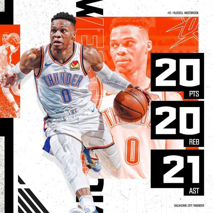 Nba On Tnt On Instagram Russ Just Became The 2nd Player In Nba History To Re Okc Thunder 2nd History Nba Nba Player Stats Sports Design Inspiration