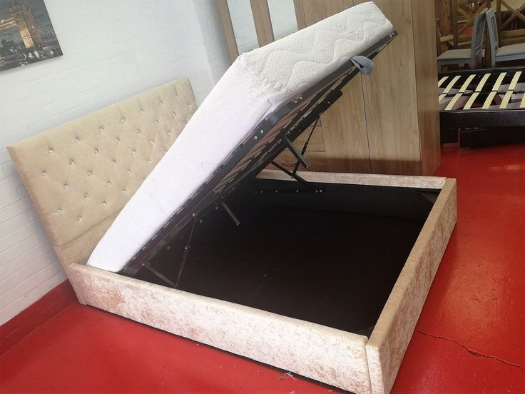 Brand new item Crushed Velvet Ot... available to buy at http://discountsland.co.uk/products/crushed-velvet-ottoman-lift-up-storage-bed-double-gold?utm_campaign=social_autopilot&utm_source=pin&utm_medium=pin. Get #discounts on #furniture #homedecor