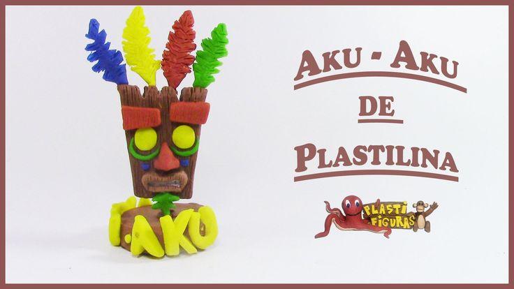Como hacer a AKU-AKU de Plastilina/ Porcelana Fria/How to make AKU-AKU w...