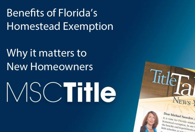Florida's Homestead Exemption can save Florida residents money on real estate taxes. Find out key information on the Homestead Exemption here http://www.michaelsaunders.com/blog/tably/florida-property-taxes-your-guide-to-filing-homestead-exemption/ and see if you can save on your taxes.