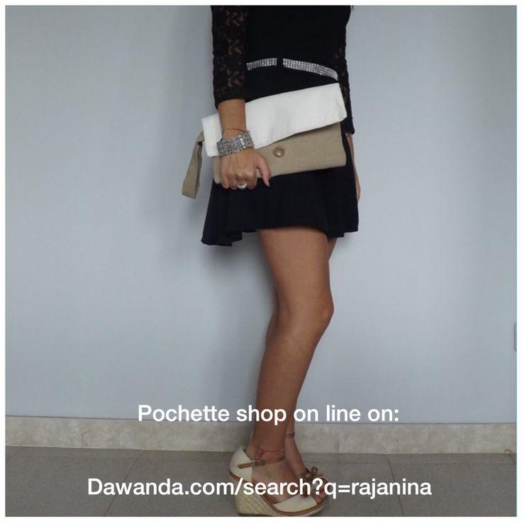 Shop online http://it.dawanda.com/search?q=Rajanina #pochette #champagne #bag #bags #outfit #look #fashion