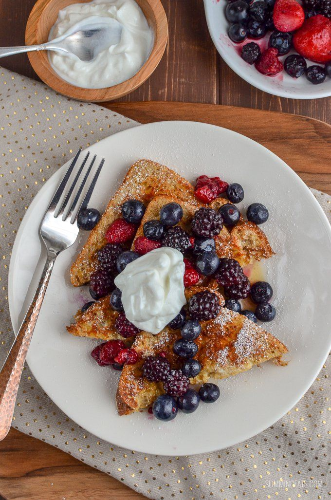 french toast slimming world recipes slimming eats frenchtoast perfect low syn french toast with mixed berries and maple syrup in 2020 food recipes slimming eats pinterest