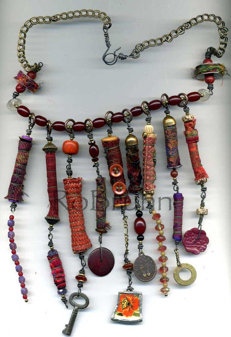 Long fabric beads