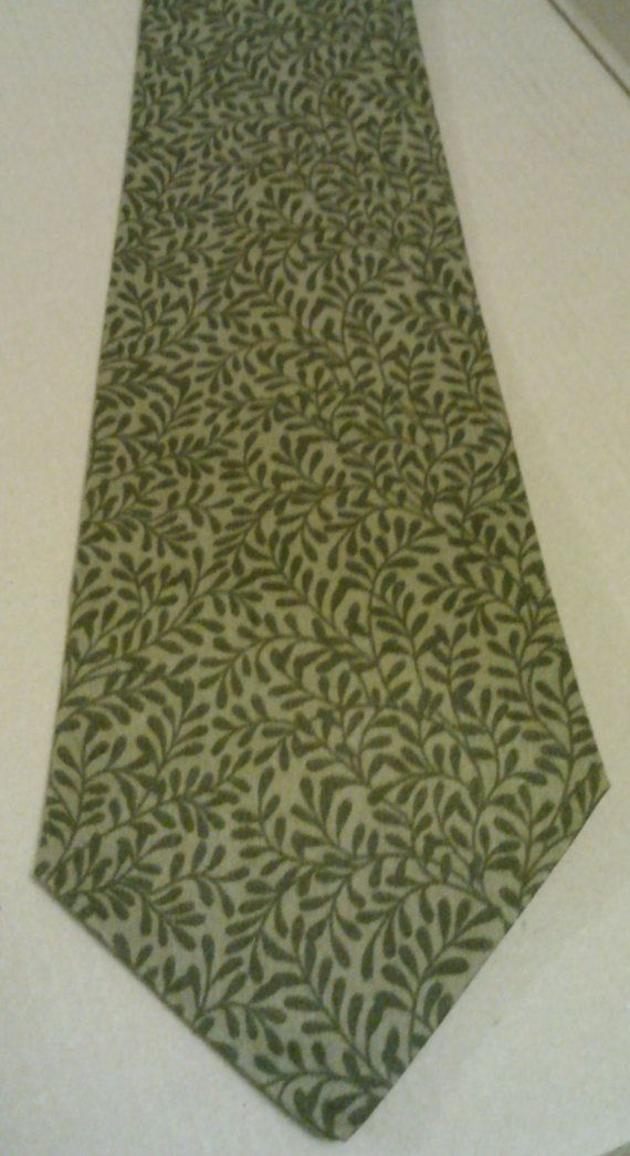 Swamp Vines neck tie by AbandonedWarehouse on Etsy