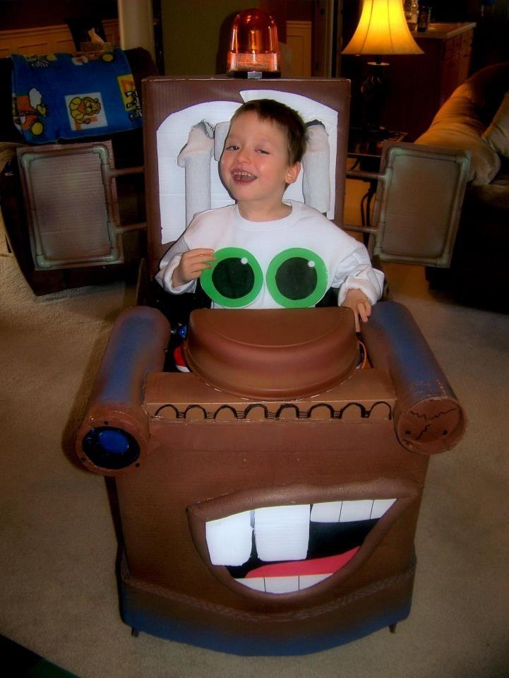 Cute Pixar Cars Mater Wheelchair Costume!