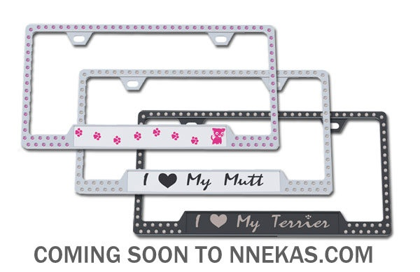 For the animal lovers, you will enjoy this soon coming line of authentic Austrian crystal license plates giving tributes to your K9 or cat. Sexy pieces both for men and women! message me for details or call (519) 562-7530 - Tootles!!