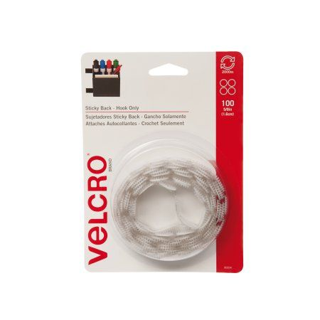 VELCRO® Brand Sticky Back 5/8in Circles, White - 100 ct.